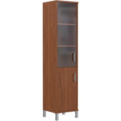 Шкаф-колонка Born правый (орех гарда/стекло тонированное, 475х450х2054 мм)