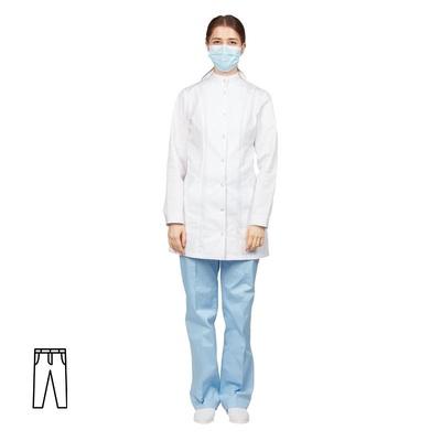 Брюки медицинские женские м14-БР голубые (размер 44-46, рост 170-176)