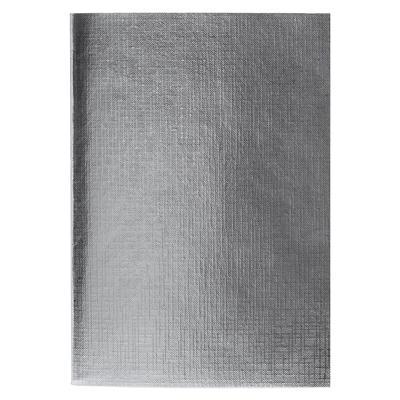 Бизнес-тетрадь Hatber Metallic А4 96 листов серебристая в клетку на скрепке (210x297 мм)