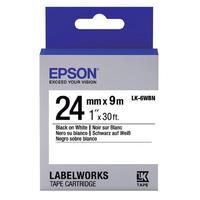 Картридж для принтера этикеток Epson LK6WBN (24 мм x 9 м, цвет ленты белый, шрифт черный)