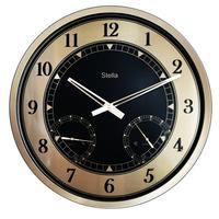 Часы настенные Stella ST3538BS с термометром и гигрометром (42.5х42.5х4.3 см)