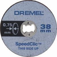 Круг отрезной Dremel Speed clic SC409 5 штук в упаковке 38 мм (2615S409JB)