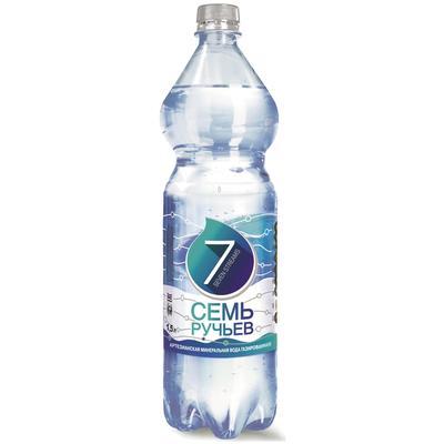 Вода минеральная Семь ручьёв газированная 1.5 л (6 штук в упаковке)