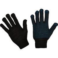 Перчатки рабочие трикотажные с ПВХ Точка 4 нити 10 класс 43 г черные (10 пар в упаковке)