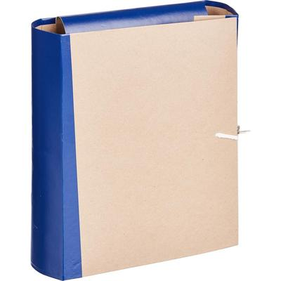 Папка архивная на 4-х завязках Attache А4 80 мм крафт-бумага/бумвинил до 800 листов синяя складная