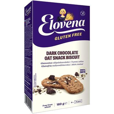Галеты овсяные Elovena с темным шоколадом без глютена 160 г