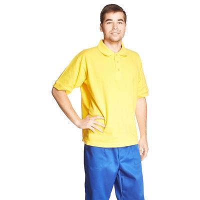 Рубашка Поло (190 г), короткий рукав, желтый (XXXL)