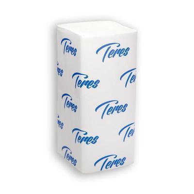 Полотенца бумажные листовые Терес Стандарт V-сложения 1-слойные 20 пачек по 200 листов (артикул производителя Т-0201)