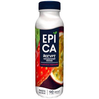 Йогурт питьевой Epica клубника-маракуйа 2.5% 290 г