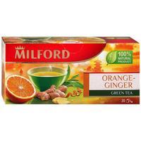 Чай Milford Orange-Ginger зеленый 20 пакетиков