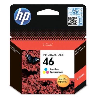 Картридж струйный HP 46 CZ638AE цветной оригинальный