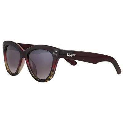 Очки солнцезащитные в чехле Zippo бордовые (OB85-02)