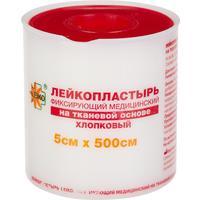 Пластырь фиксирующий Leiko plaster 5x500 см тканая основа