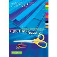 Бумага цветная Альт (А4, 10 листов, 10 цветов, мелованная)