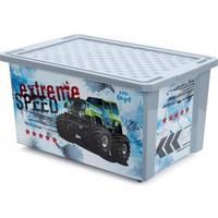 Детский ящик для игрушек X-BOX Супер Трак 57 л на колесах