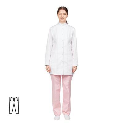 Брюки медицинские женские м14-БР розовые (размер 44-46, рост 158-164)
