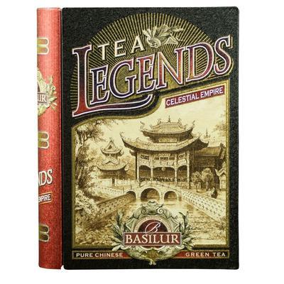 Чай подарочный Basilur Чайная книга Поднебесная Империя листовой зеленый с жасмином 100 г