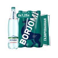 Вода минеральная Боржоми газированная 1.25 л (6 штук в упаковке)