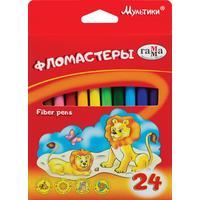 Фломастеры Гамма  Мультики 24 цвета смываемые