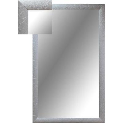 Зеркало настенное Attache (1000x600 мм, серебряный шелк)