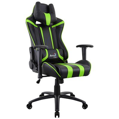 Кресло игровое Aerocool AC120 Air-BG зеленое/черное (искусственная кожа, металл)