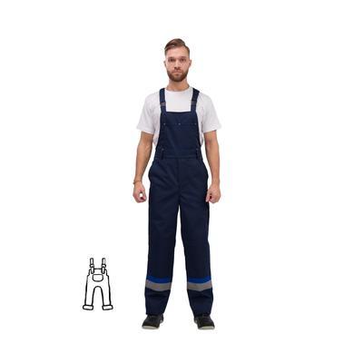 Полукомбинезон рабочий летний мужской л24-ПК с СОП синий (размер 52-54, рост 182-188)