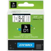 Картридж для принтера этикеток DYMO S0720830 D1 (19 мм x 7 м, цвет ленты белый, шрифт черный)