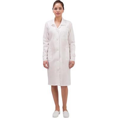 Халат рабочий женский у02-ХЛ белый (размер 60-62, рост 158-164)