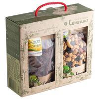 Подарочный набор коктейль Семушка смесь сухофруктов и орехов 520 г