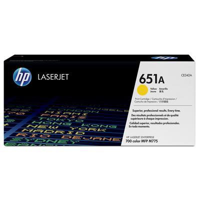 Картридж лазерный HP 651A CE342A желтый оригинальный