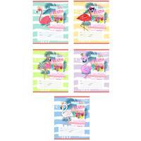 Тетрадь школьная Проф-пресс Фламинго и цветные волны А5 12 листов в косую линейку (обложка в ассортименте)