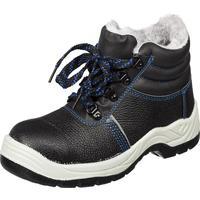 Ботинки утепленные из натуральной кожи/искусственной кожи черные (размер 40)
