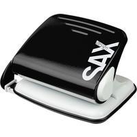 Дырокол Sax Design 318 до 20 листов черный с линейкой
