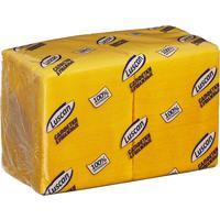 Салфетки бумажные Luscan Profi Pack 24х24 желтые 1-слойные 400 штук в  упаковке