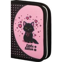 Пенал односекционный MagTaller Evo Kitty розовый/черный