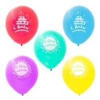 Набор шаров Paterra С днем рождения! 30 см (5 штук в упаковке)
