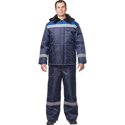 Куртка рабочая зимняя мужская з32-КУ синяя/васильковая (размер 48-50, рост 158-164)