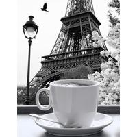 Картина на холсте Ecoramka Париж и чашка кофе (30x40 см)