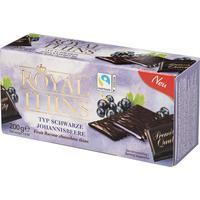 Шоколад порционный Royal Thins со вкусом черной смородины 200 г