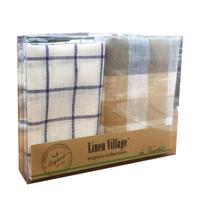 Набор полотенец льняных Linen Village 35х50 см 2 штуки в упаковке