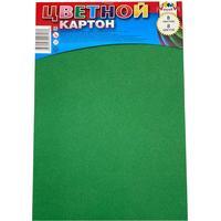 Картон цветной Апплика (А4, 8 листов, 8 цветов, немелованный, на скрепке)
