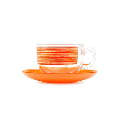 Сервиз чайный Luminarc Брашмания Оранж (P8984) на 6 персон стекло (12 предметов )