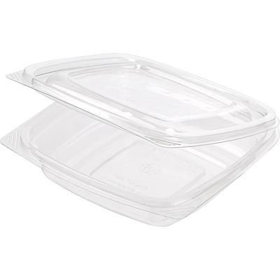Одноразовый пластиковый контейнер для салатов 500 мл прозрачный (300 штук в упаковке)