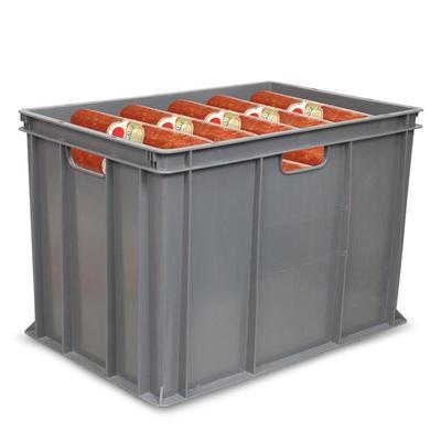 Ящик (лоток) колбасный из ПНД 600х400х410 мм серый