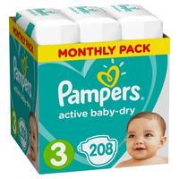 Подгузники Pampers Active Baby-Dry размер 3 (M) 6-10 кг (208 штук в упаковке)