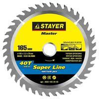 Диск пильный по дереву Stayer Super Line 165х20 мм 40T (3682-165-20-40)