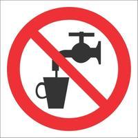 Знак безопасности Запрещено использование в качестве питьевой воды Р05 (200x200 мм, пленка ПВХ)
