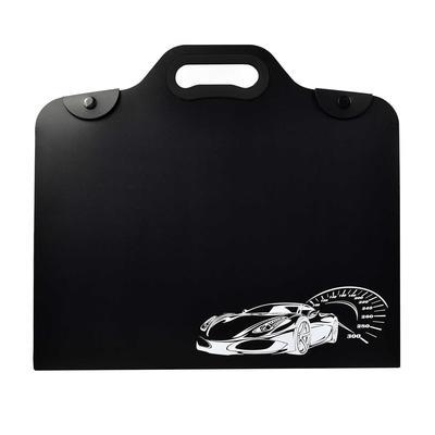 Папка-конверт на кнопке Феникс+ Машина А4 черная 550 мкм