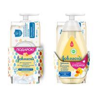 Шампунь-пенка детский Johnsons baby 300 мл + Влажные салфетки 56 штук в упаковке (промоупаковка)