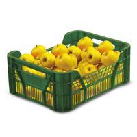 Ящик (лоток) фруктовый из ПНД 400х300х155 мм зеленый